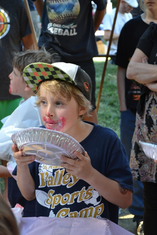 Boulder Creek Pie Eating Contest