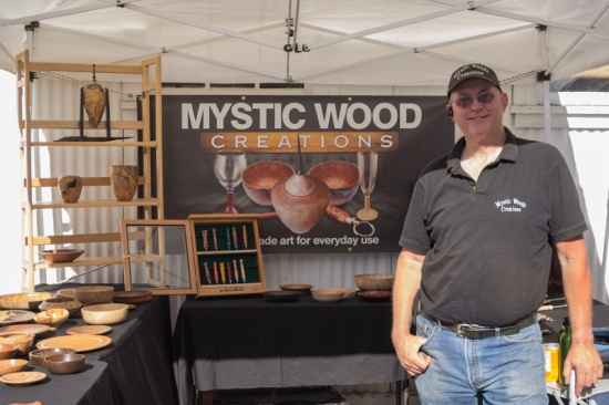 Mystic Wood Creations at Boulder Creek's 1st Farmers Market