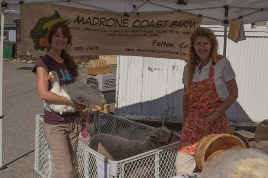 Madrone Coast Farm at Boulder Creek's 1st Farmers Market