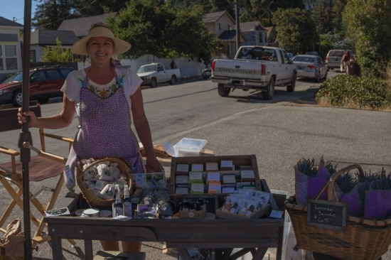 Deerhaven Herb & Flower Farm at Boulder Creek's 1st Farmers Market