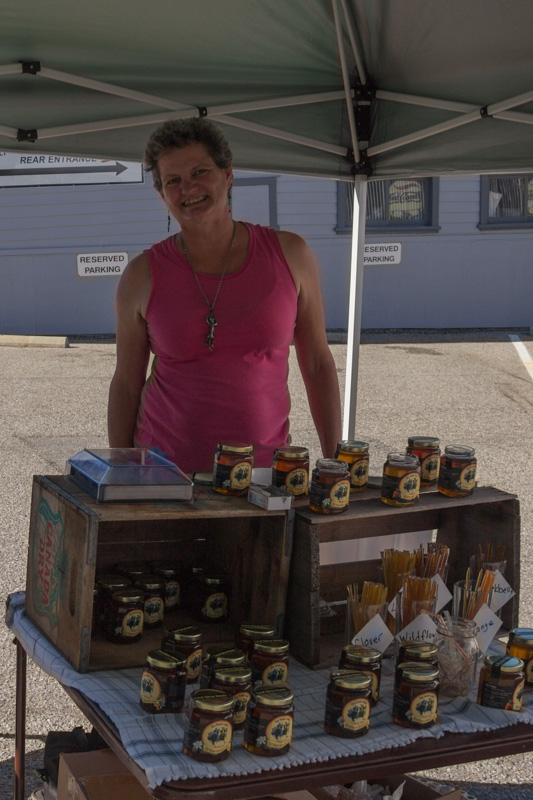 The Honey Ladies at Boulder Creek's 1st Farmers Market
