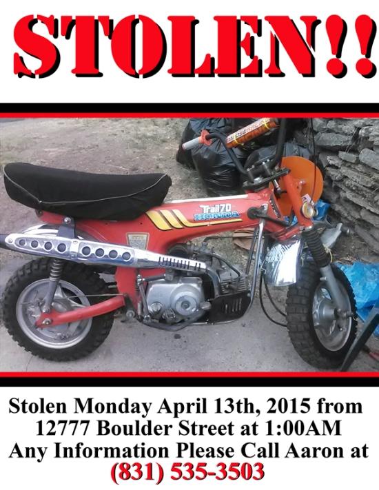 stolen honda